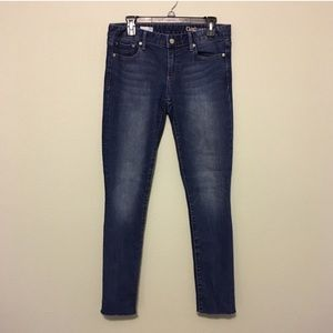 GAP Always Skinny Mid-Rise Raw Hem Jeans
